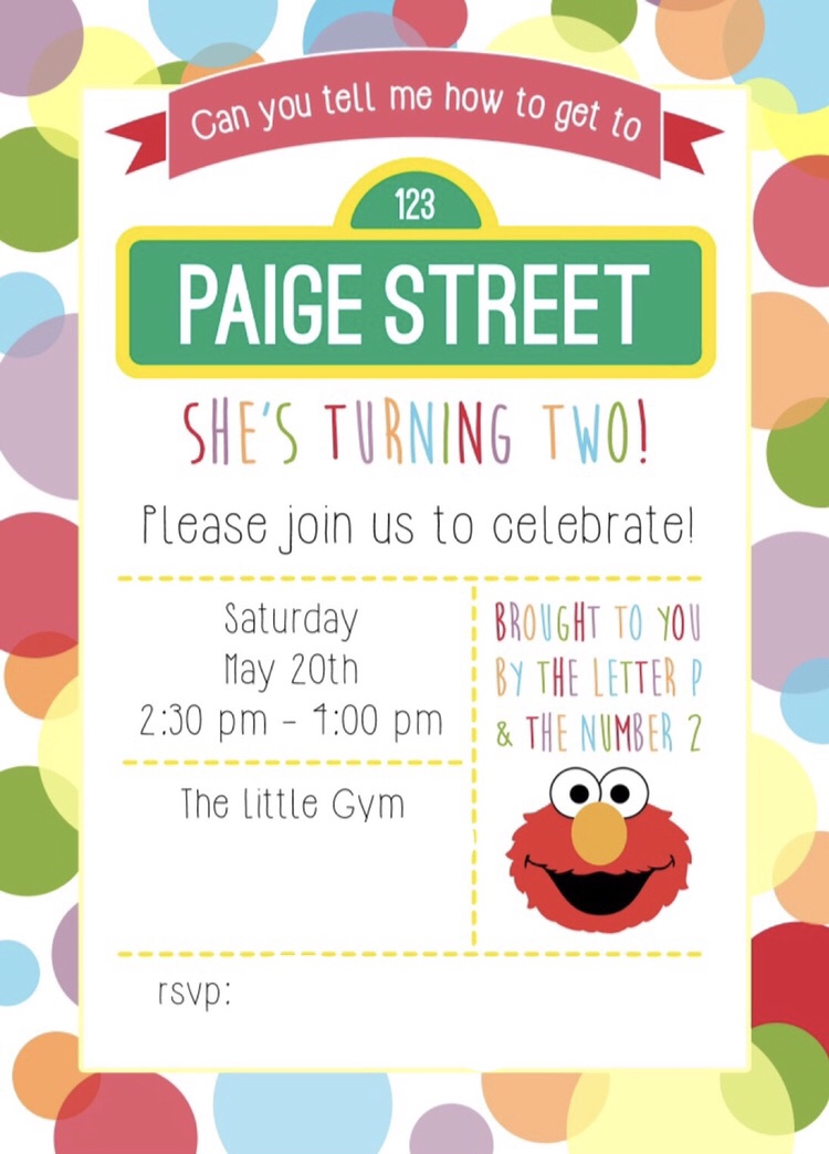 When She Became A Toddler Elmo Was The First Television Character That Gravitated Toward So I Thought It Fitting To Throw Sesame Street Themed Party